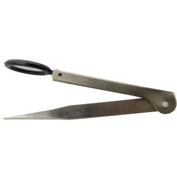 Pincet met rechte punten 11cm met loep
