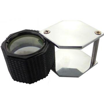Juweliers Loep 10x Zwart/Zilver