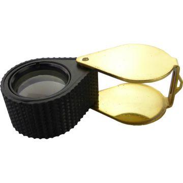 Juweliers Loep 10x Zwart/Goud