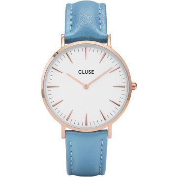 Cluse CL18033 LA BOHÈME ROSE GOLD WHITE/RETRO BLUE CL18033