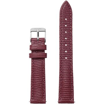 Cluse Minuit Strap Burgundy Lizard/Silver CLS378