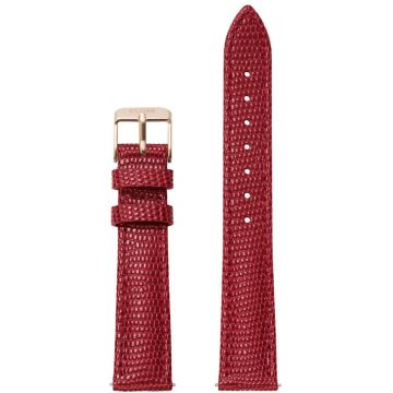 Cluse Minuit Strap Deep Red Lizard/Rose Gold CLS383
