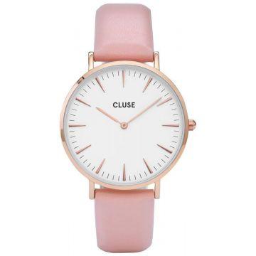Cluse La Bohème Leather Rose Gold White/Pink CW0101201012