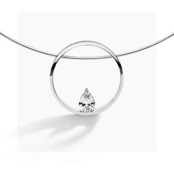 FJF JEWELLERY COLLIER PINE SILVER / WHITE FJF0010002SWH