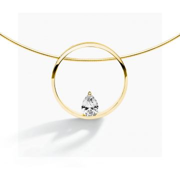 FJF JEWELLERY COLLIER PINE YG / WHITE  FJF0010002YWH