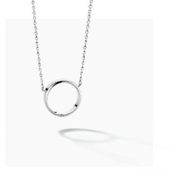 FJF JEWELLERY NECKLACE CIRCLE FJF0010006SRH