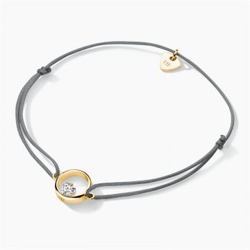 FJF JEWELLERY CORD-BRACELET ICON HEART  FJF0060102YWH