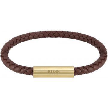 HUGO BOSS HBJ1580151 BRAIDED LEATHER Armband 19cm