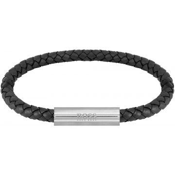 HUGO BOSS HBJ1580152 BRAIDED LEATHER Armband 19cm