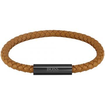 HUGO BOSS HBJ1580153 BRAIDED LEATHER Armband 19cm