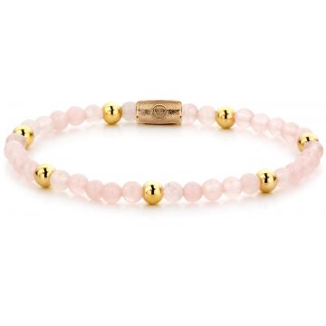 Rebel & Rose More Balls Than Most Pink Rose II - 4mm - yellow gold pated RR-40048-G