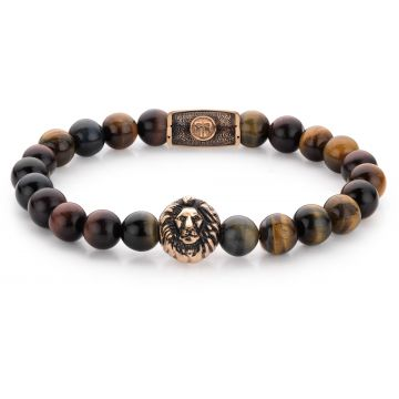 Rebel & Rose Lion Head Who's afraid of the Lion - rose gold plated RR-8L032-R