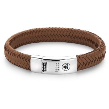 Rebel & Rose Absolutely Leather Braided Oval - Handsome In Khaki RR-L0041-S