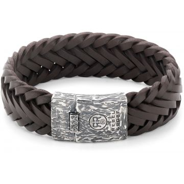 Rebel & Rose Absolutely Leather Big Braided Raw Vintage Earth RR-L0074-S