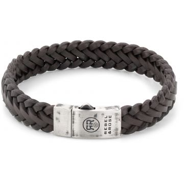 Rebel & Rose Absolutely Leather Braided Raw Matt Earth RR-L0077-S
