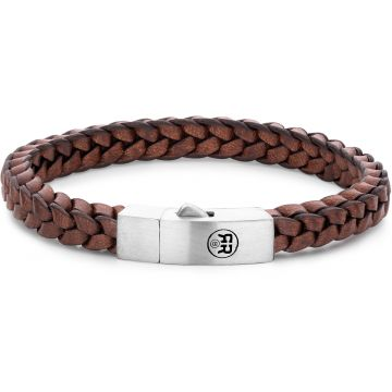 Rebel & Rose Absolutely Leather Braided Square 925 Earth RR-L0082-S