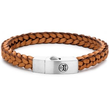 Rebel & Rose Absolutely Leather Braided Square 925 Cognac RR-L0083-S