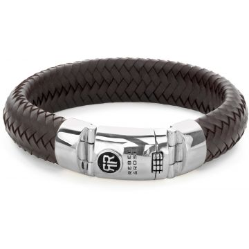 Rebel & Rose Absolutely Leather Ltd. Big Half Round Braided Earth RR-L0098-S