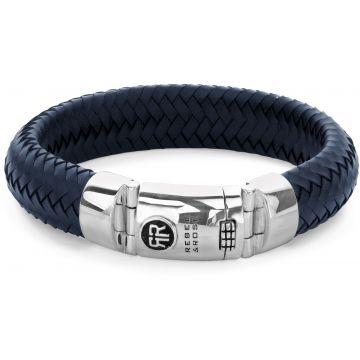 Rebel & Rose Absolutely Leather Ltd. Big Half Round Braided Blue RR-L0099-S