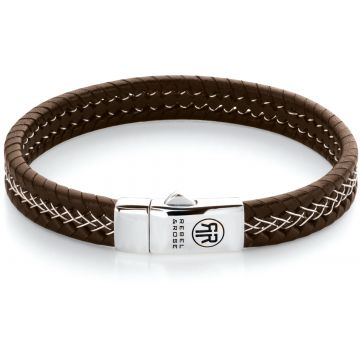 Rebel & Rose Absolutely Leather Silver Wired Brown RR-L0101-S