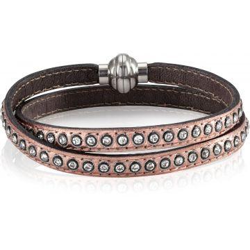 SIF JAKOBS AREZZO rose gold bracelet w/zirkonia 38cm SJ-BR2359-RG-CZ-38