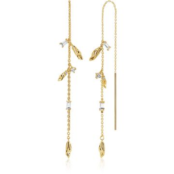 SIF JAKOBS VULCANELLO CHAIN EARRINGS SJ-E42030-CZ-SG