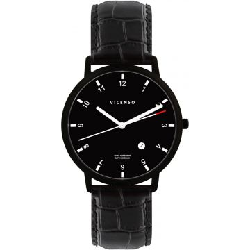Vicenso Rome VI10026 Full Black Croco